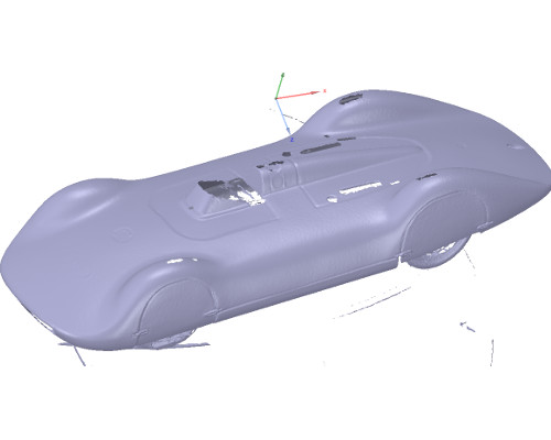 3D scan van een auto