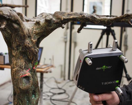 3D scan bronzen beeld